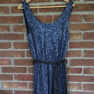 Express Dress * Navy Sparkle / Bling * Size Small